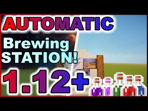 ✔Minecraft: (1.12+) Tutorial- HOW TO MAKE AN AUTO BREWING STATION