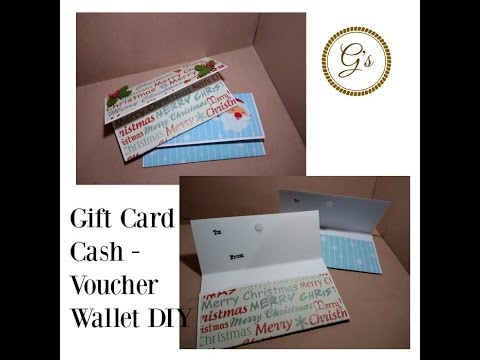 (£1) Poundland Craft - Christmas Gift Card/Cash/Voucher Wallet DIY