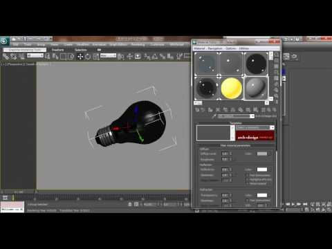 3ds max Light Bulb Modeling and rendering Tutorial