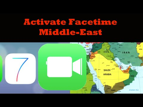 How to activate Facetime in the Middle East (iOS7)