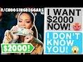 Rchoosingbeggars Girl DEMANDS 2000 For A NEW Camera