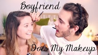 Boyfriend Does My Makeup | Zoella
