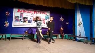 Karimganj College AnnualFeast 2017 dance performance by Baptu-Da and Raju Chorai