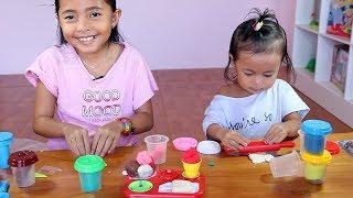 Unboxing Mainan Anak Play Doh Ice Cream - Membuat es krim dari Play doh - Learn colors