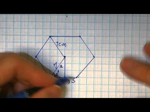 13, 14 Calculate Area by Difference Circle and Inscribed Hexagon, Find the Apothem
