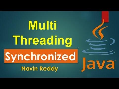 #10.6 Multithreading |  Synchronized Keyword