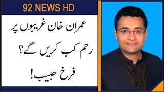 "When will PM Khan have ""Mercy"" on Poor citizens of Pakistan : Farrukh Habib comments"