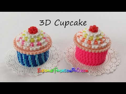 DIY Perler/Hama Beads Cupcake 3D - How to Tutorial by Elegant Fashion 360