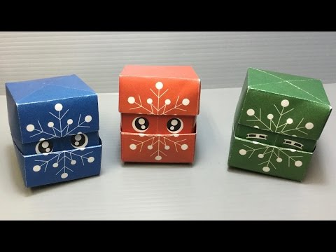 Origami Changing Faces Snowflake Cube