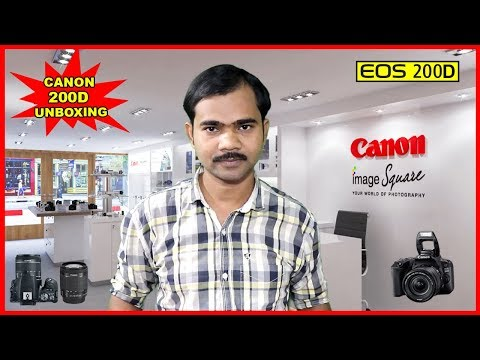 Canon EOS 200D DSLR unboxing and overview in Hindi | Best budget camera 2018
