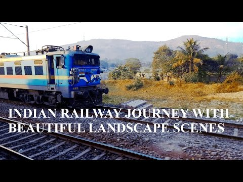 Indian Railway Journey With Beautiful Landscape Scenes.