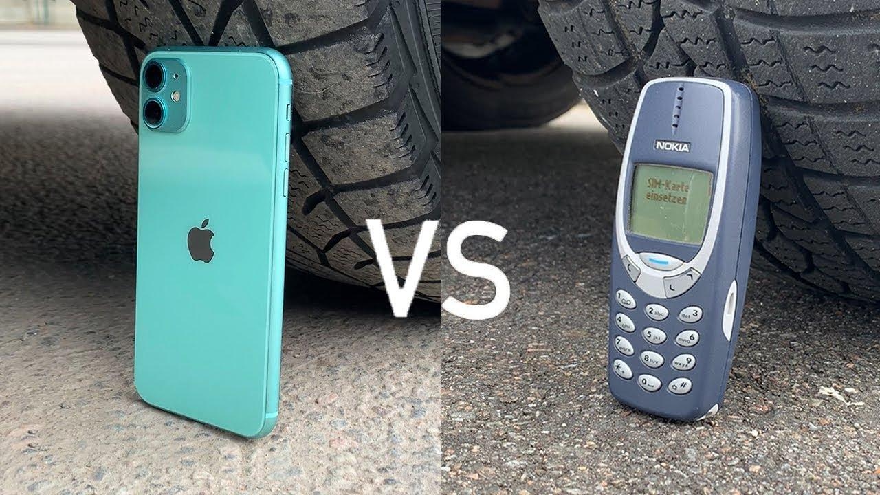 iPhone 11 vs Nokia 3310 vs CAR