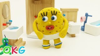 Spoiled Baby SpongeBob Morning Activity Video play doh Kids stop motion