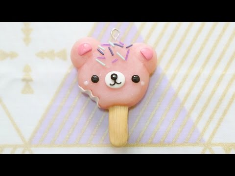 Polymer Clay Bear Popsicle Charm Tutorial