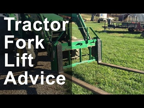 Farm Tractor Fork Lift Advice