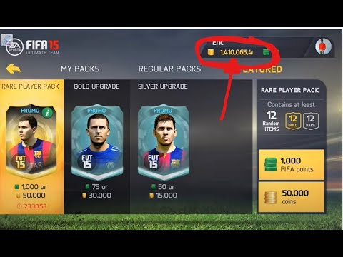 Fifa 15 ultimate team Android/ios coins hack/glitch