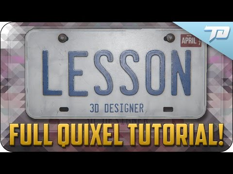 Quixel Suite Full Beginners Tutorial   Photo Real License Plate 3D Model
