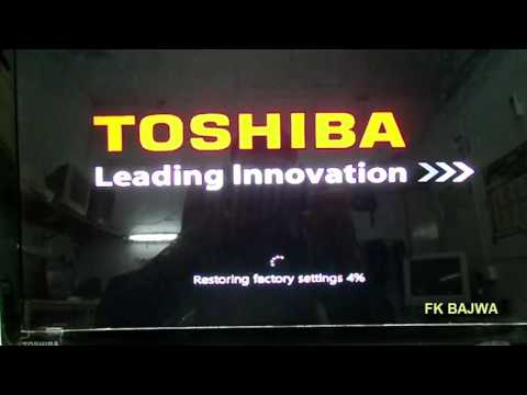 RUN Recovery Factory default on any Toshiba Laptop WINDOWS 10 new