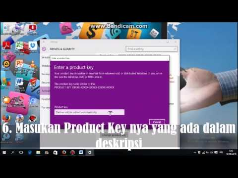 Cara mengaktivasi windows 10 pro + dengan kode product key