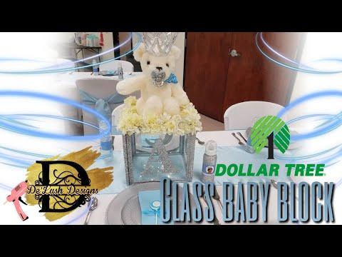 DOLLAR TREE DIY | GLASS BABY BLOCKS