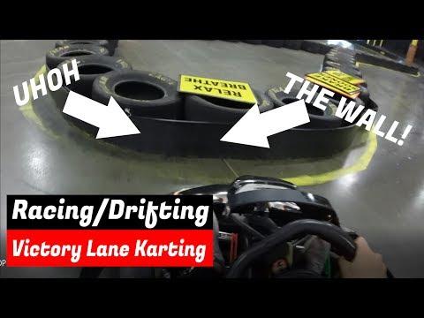 Drifting Go Karts!!   Victory Lane Indoor Karting