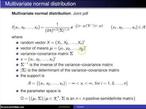 Multivariate normal distribution