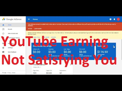 YouTube Earning with channel What I Earn This Month !!!