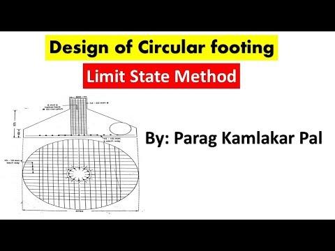 Design of circular footing