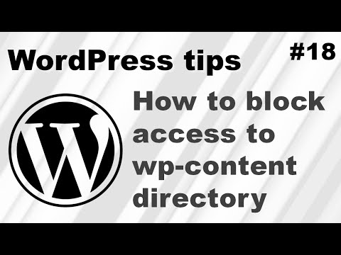 How to block access to the wp-content uploads folder