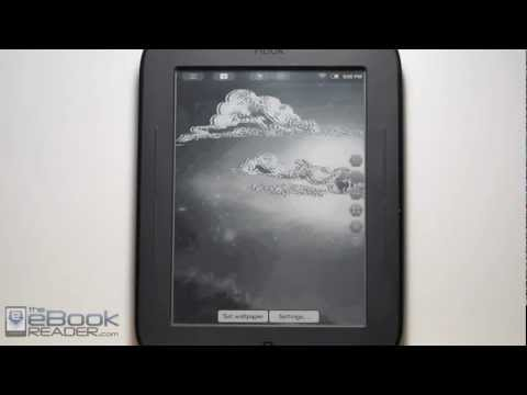 Nook Touch Animation Speed Test with Live Wallpapers