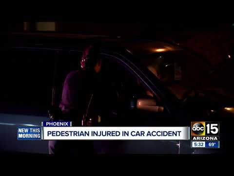 Pedestrian hit by car in central Phoenix