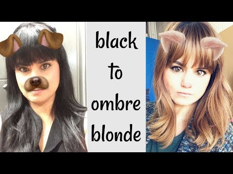 Black to Brown ombré Hair Tutorial