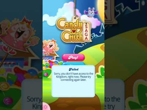 sorry you don't have access to kingdom right now candy crush
