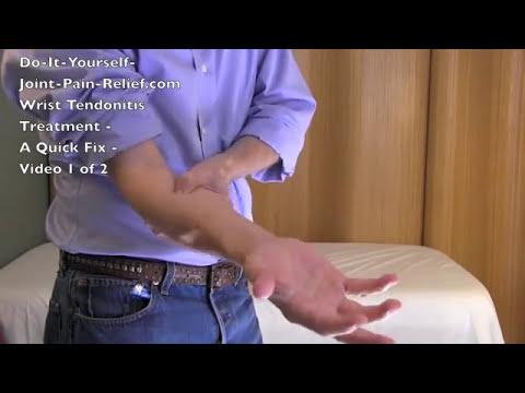 Wrist Tendonitis Treatment - A Quick Fix - Video 1 of 2
