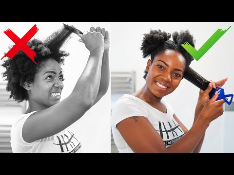 How I Detangle My Short Natural Hair (4B/ 4C Hair Texture) (PART 3)
