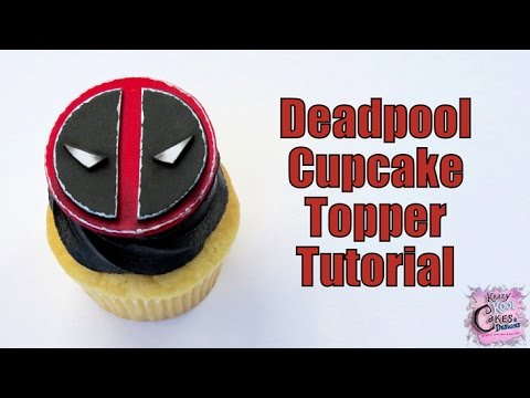 Deadpool Cupcake Toppers EASY HOW TO!
