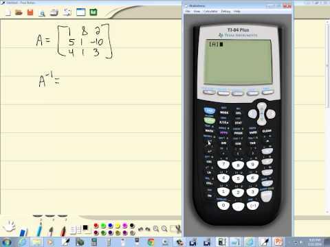 Technology in College Algebra - Matrix Inverse - TI-84 Plus