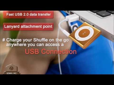 USB Charger Sync Data Cable for Apple Ipod Shuffle (Gemix) - 3rd - 4th - 5th - 6th Generation