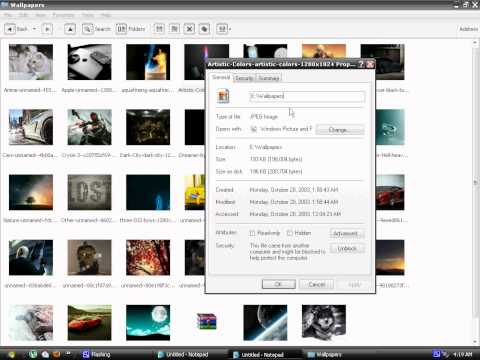 How to change folder background in Windows XP