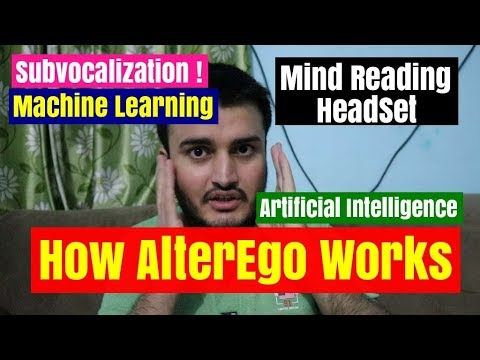 How AlterEgo MIT works -  Mind Reading Headset !  Best AI based device