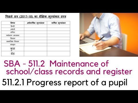 SCHOOL BASED ACTIVITY - 511.2 Maintenance of school/class records and register.