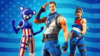 New 4th of July Skins! Fireworks Team Leader & Star-Spangled Ranger/Trooper (Fortnite Battle Royale)