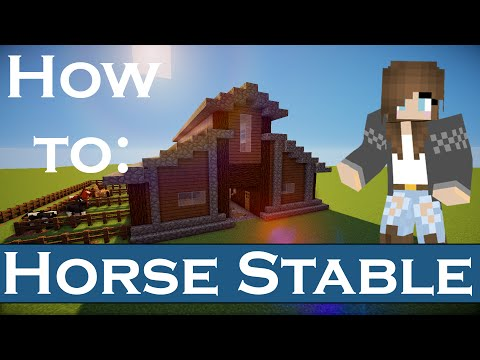Minecraft | Horse Stable | How to Build