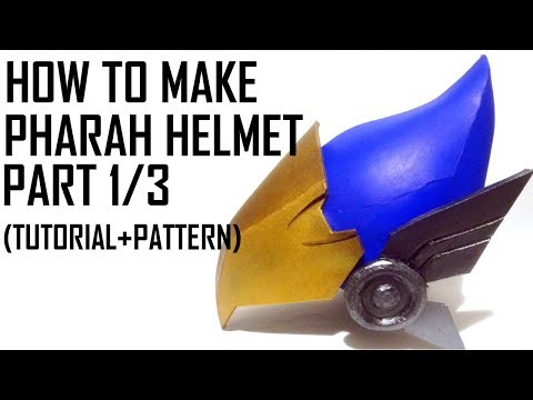 Pharah Overwatch Cosplay Helmet. How to make. Tutorial and pattern!  PART 1/3