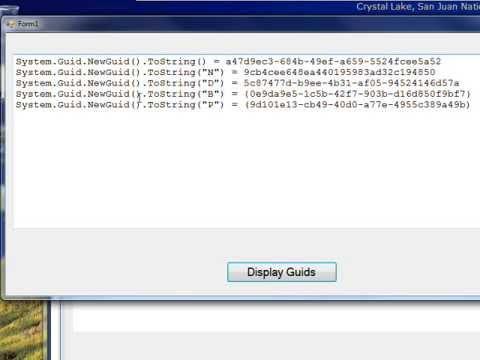 C# Edge 233   COM02   Generating GUIDs with C#