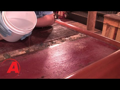 How to apply liquid glass epoxy bar top finish: Bar Top Coating with clear resin tutorial.