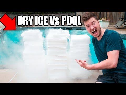 1,500 POUNDS OF DRY ICE Vs POOL CHALLENGE! 😮