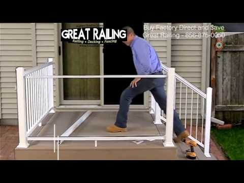 This is a how to install a Aluminum railing system with glass panels on a trex deck.