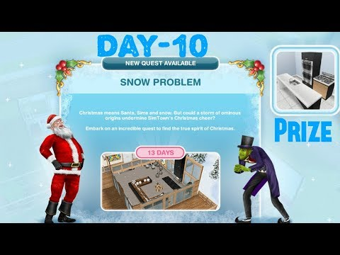 Simsfreeplay - Snow Problem Quest Day - 10 Christmas Holiday Update 2017