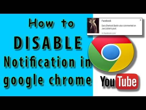 How to Disable Notification in google chrome